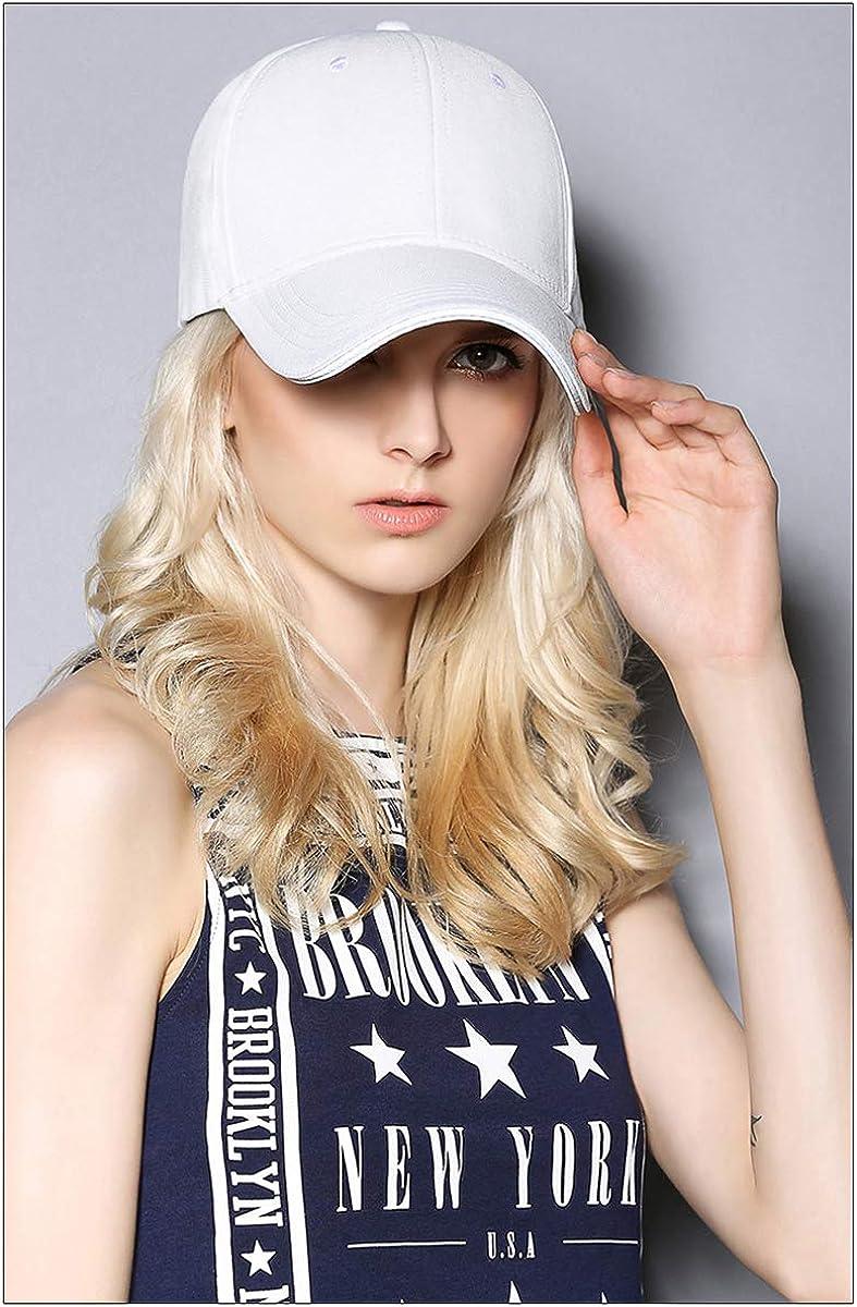 WELROG Dame Baseball Kappe Hip-Hop-Hut Verstellbar Baumwolle Pferdeschwanz Cap