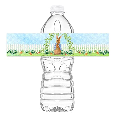 POP parties Peter Rabbit Bottle Wraps - 20 Peter Rabbit Water Bottle Labels - Peter Rabbit Decorations - Made in The USA: Toys & Games