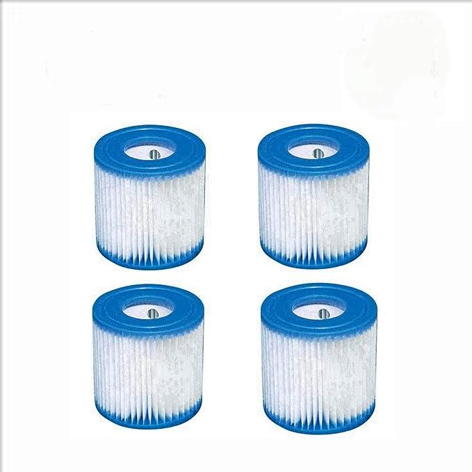 HHDL - Cartucho de filtro de repuesto tipo 1 de 2/4 unidades para bombas de filtro Bestway fácil de instalar