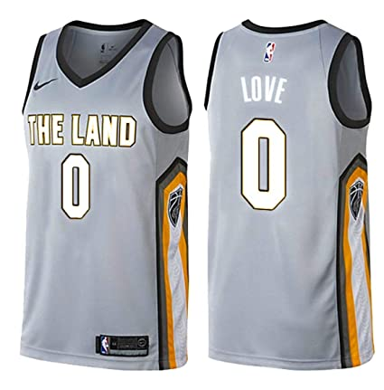 34f4c1f9e Image Unavailable. Image not available for. Color  Nike Kevin Love  Cleveland Cavaliers City Edition Silver Swingman Jersey - Men s ...