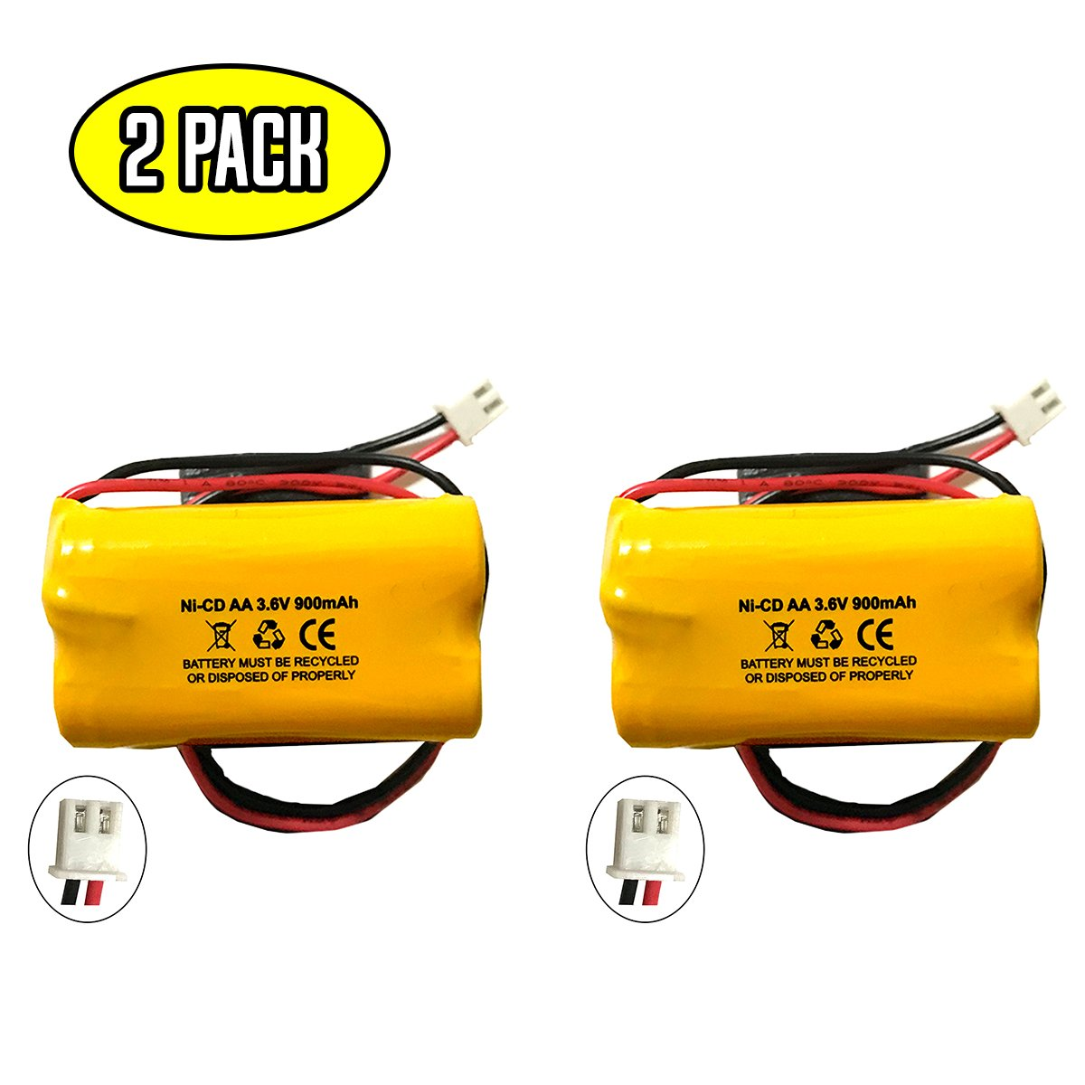 Unitech AA900MAH 6200 RP 36v 900mAh Battery Replacement Exit Sign Emergency Light NiCad 6200RP Lowes OSA230 253799 LEDR 1