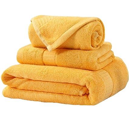 Juego de Toallas Suaves para el hogar Juego de Toallas de baño de Tres (una