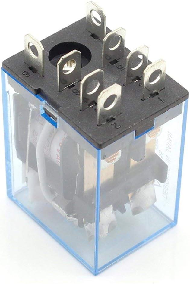 Prise Greatangle JQX-13F Mod/¨/¨Le DPDT 10A DC12V DC24V DC220V AC12V AC24V AC110V AC220V AC380V Bobine 8 Broches 35mm Relais de Puissance sur Rail DIN