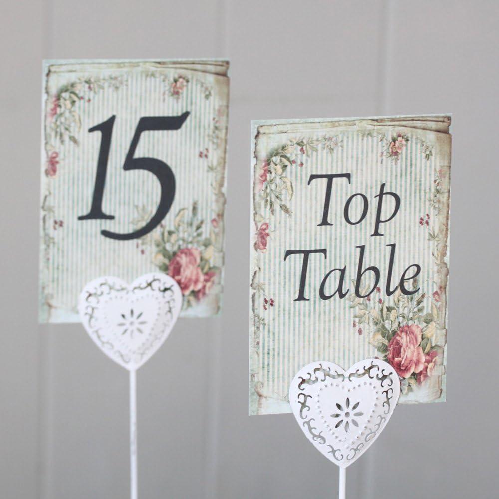 Números (del 1 al 15) de mesa para boda, de estilo rústico ...