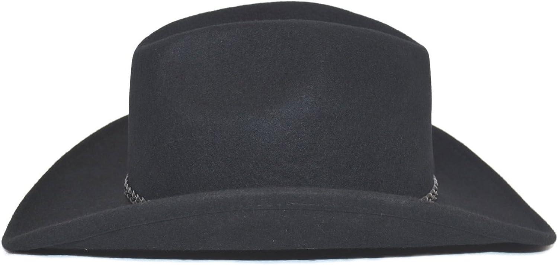 schwarz 59 Westernhut CHUCK 100/% Wollfilz