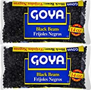 Goya Black Beans Dry 14 oz (Pack of 2)