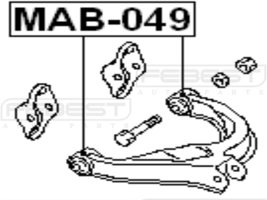 Mb864712 Oem Febest Mitsubishi Arm Bushing Rear Upper Arm