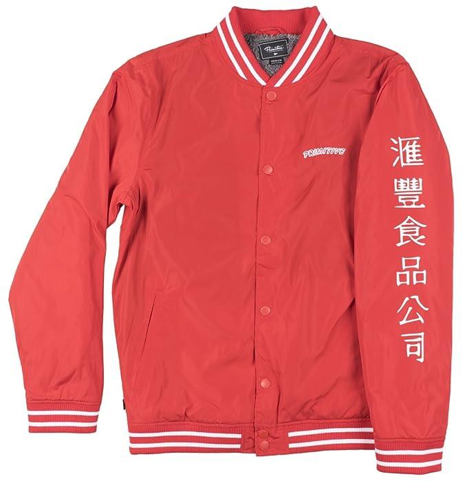bfbbaa7a0 Primitive x Sriracha Sherpa Varsity Jacket Red Mens Huy Fong Foods Medium