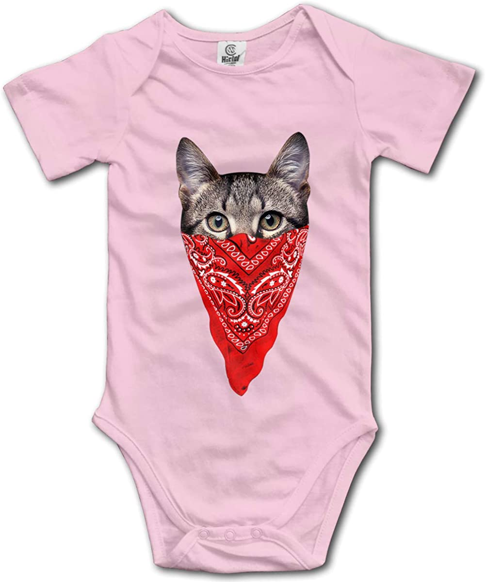Cute Cat Infant Baby Short Sleeve Bodysuit Romper