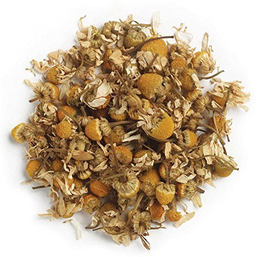 Frontier Co-op Organic Chamomile Flowers, German, Whole, 1 Pound Bulk ()
