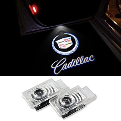 Cszlove 2pcs Cadillac Car Door LED Logo Projector Welcome Step Light Ghost Shadow Courtesy Emblem Lights  sc 1 st  Amazon.com & Amazon.com: Cszlove 2pcs Cadillac Car Door LED Logo Projector ...