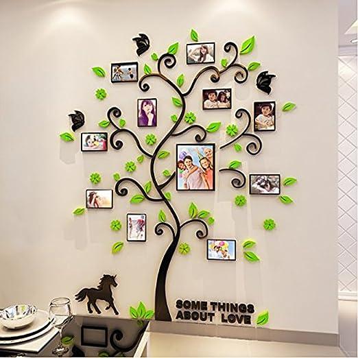 Alicemall 3D Wandaufkleber Grün Blätter Stereo Wandaufkleber Abnehmbare  Wohnzimmer Schlafzimmer Kinderzimmer Sofa Möbel Hintergrund Wandtattoo