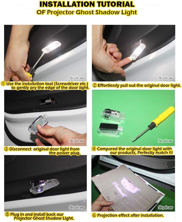 1 Pair PATROL 2010-2019 Y62 Car LED Door Welcome Light Warning Light Projector Ghost Shadow Light