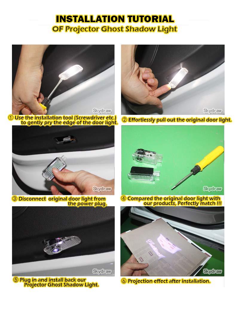 1 paio di luci a LED per portiera dell/'auto X5 E70 F15 G05.