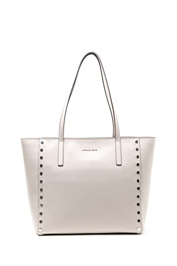 917ab8fc9868 Michael Michael Kors Rivington Stud Large Leather Tote, Grey: Handbags:  Amazon.com