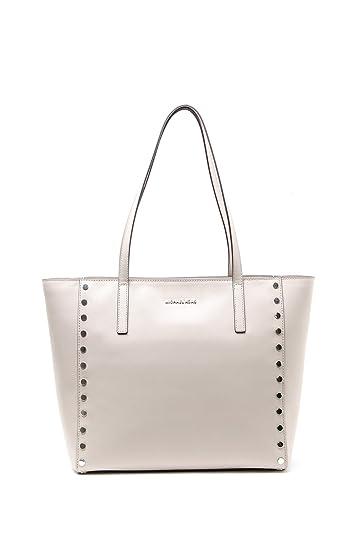 de99b80006bb Michael Michael Kors Rivington Stud Large Leather Tote, Grey: Handbags:  Amazon.com