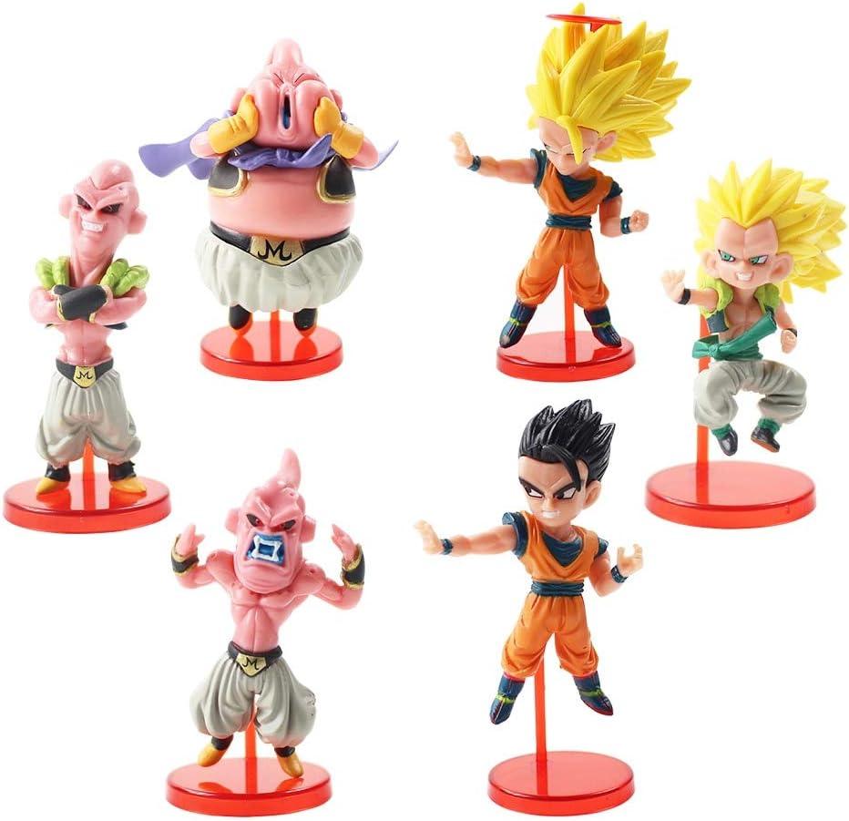 6pcs//lot Dragon Ball Z Figures Dragonball Son Goku