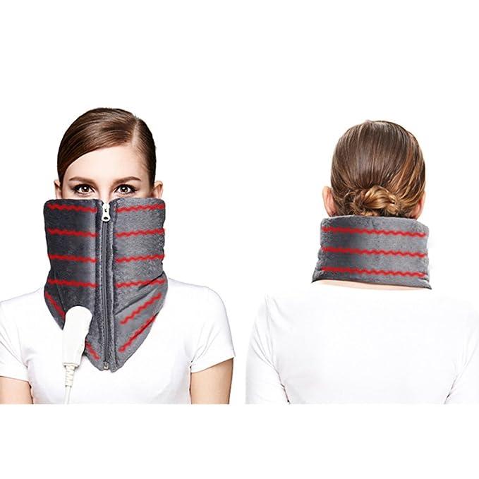 iGuerburn Almohadilla Eléctrica para Cuello y Cervical - 100W - 72 x 25cm, Ideal para Dolencias Musculares y Contracturas, Lavable, - Gris: Amazon.es: Salud ...