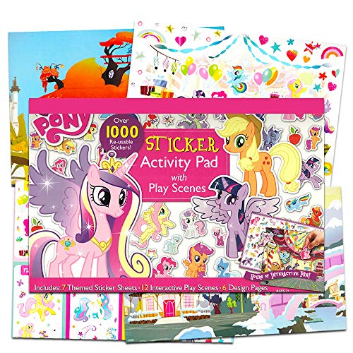My Little Pony Ultimate Sticker Activity Book for Girls Kids Toddlers -- Giant Sticker Pack with Play Scenes and Over 1000 Reusable Stickers, Puzzles, Games and More (My Little Pony Party Supplies)