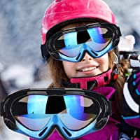 Fengzio Skidglasögon barn snowboard glasögon UV400-skydd snowboard glasögon anti-dizzying glasögon för skidåkning…