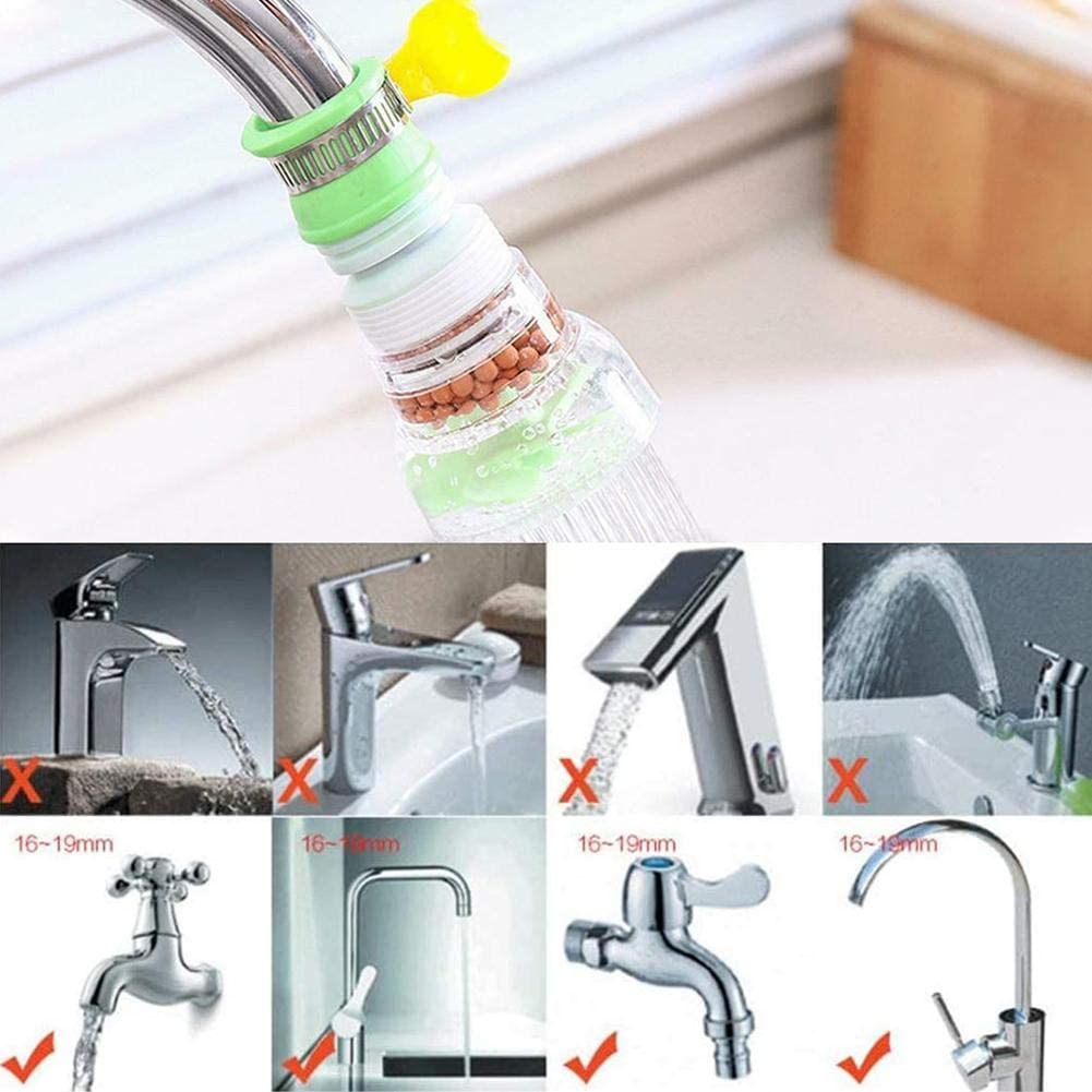 360 Rotating Faucet Filter Nozzle Water Filter Retractable Water Tap Shower Filter Sprayers Tap Water-Saving Device(3 Packs) Splash-Proof Folding Faucet Filter Faucet Booster Filter