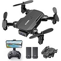 KIDOMO Mini opvouwbare drone met 1080p camera voor kinderen en FPV wifi live overtarging, RC mini quadcopter met…