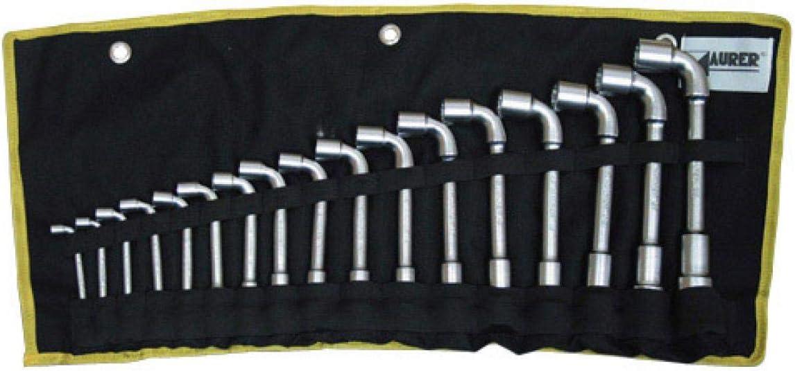 Tec Hit 325506 Jeu de 6 Clés à pipe débouchées 8 à 19 mm