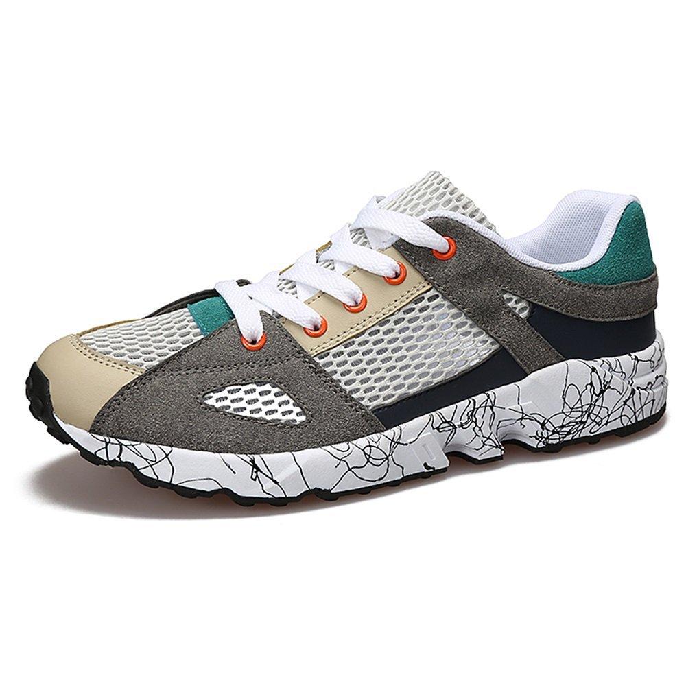 NANXIE Verano nuevos Hombres del Deporte Viento Zapatos Casuales Desodorante Transpirable Tendencia Neta Senderismo Zapatos Salvajes XIAOQI (Color : Gris, tamaño : 39) 39 Gris