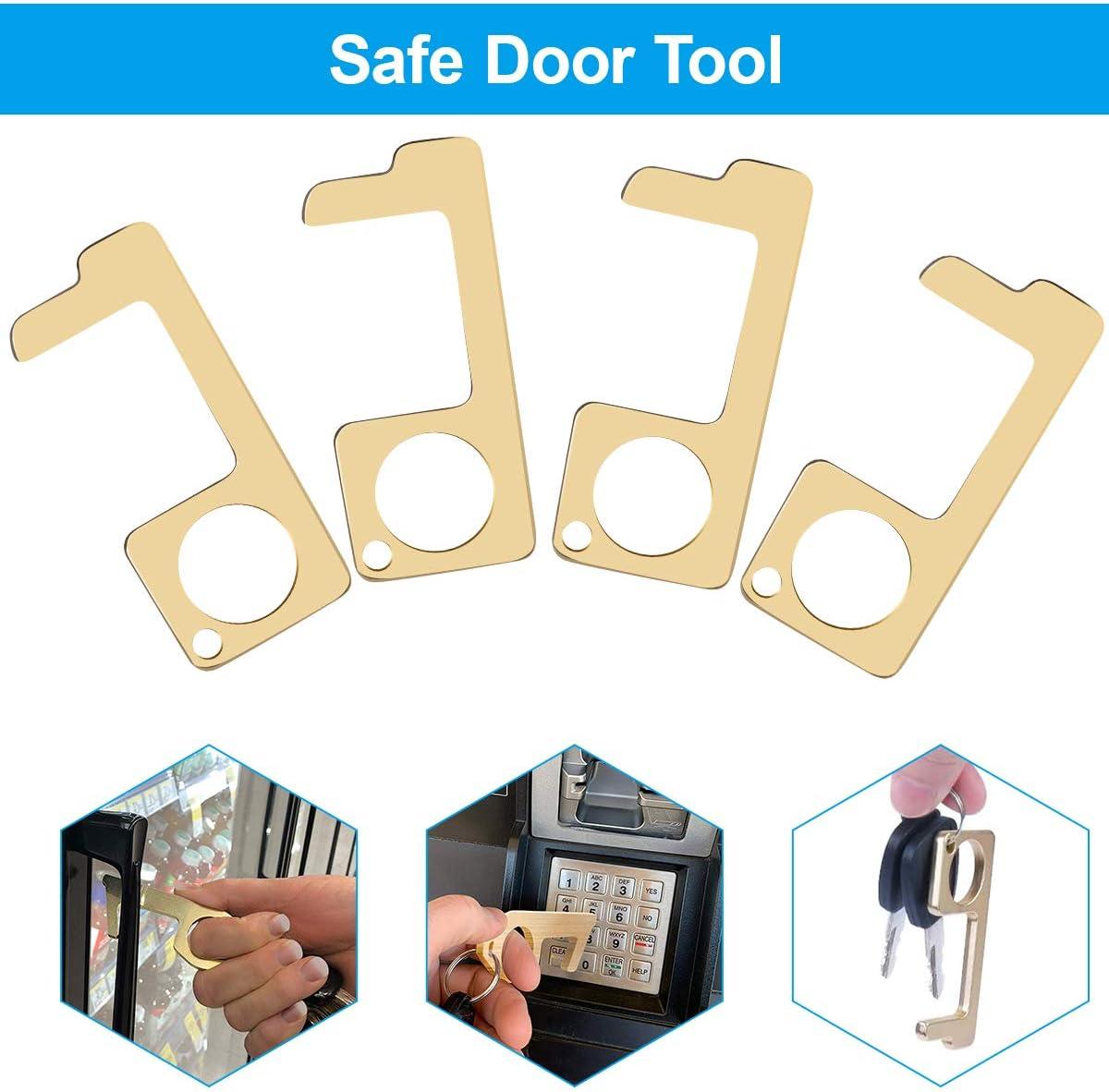 ouvre-porte sans contact multi-outils pour la maison Outil de porte-cl/és douvre-porte en laiton tenu dans la main le garage le march/é