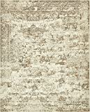 Cheap Unique Loom Tuareg Collection Vintage Distressed Traditional Cream Area Rug (8′ x 10′)
