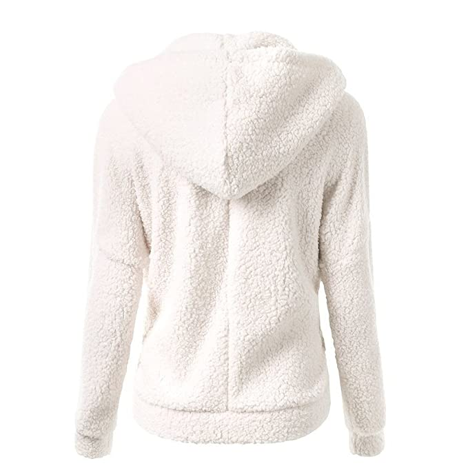Dacawin Winter Sale-Women Hooded Sweater Coat Winter Warm Wool Cotton Soft Zipper Outwear at Amazon Womens Clothing store: