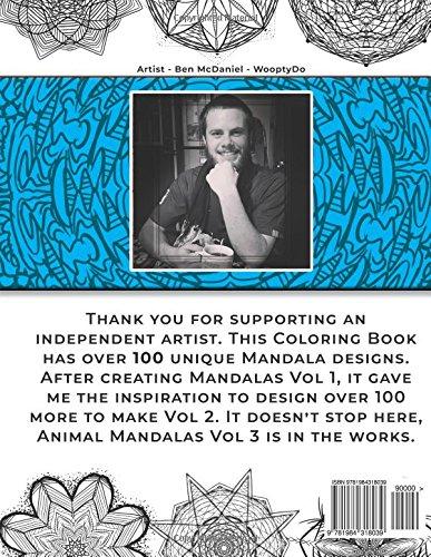 Mandala Coloring Book 100 Mandalas Custom Designs Volume 2 Ben McDaniel Woopty Do 9781984318039 Amazon Books