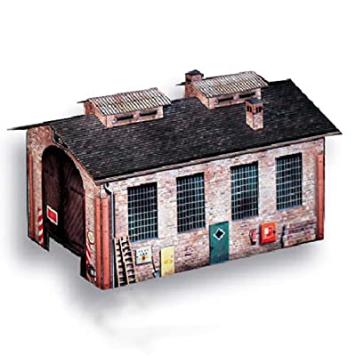 2 Pieces 1:87 HO Scale Handmade Building Model for Train Railroad Scenery-Parking Lot & Warehouse: Toys & Games