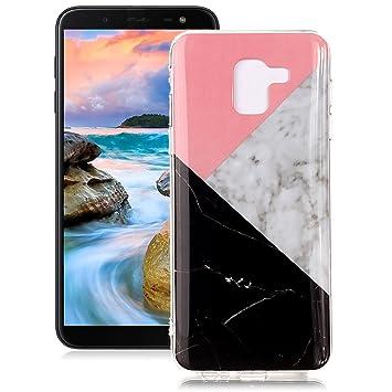 Yunbaoz Funda Compatible para Samsung Galaxy J6 2018 Mármol Soft Marble Case Textura Piedra Suave Flexible Anti-Rasguños Patrón Granito Carcasa ...