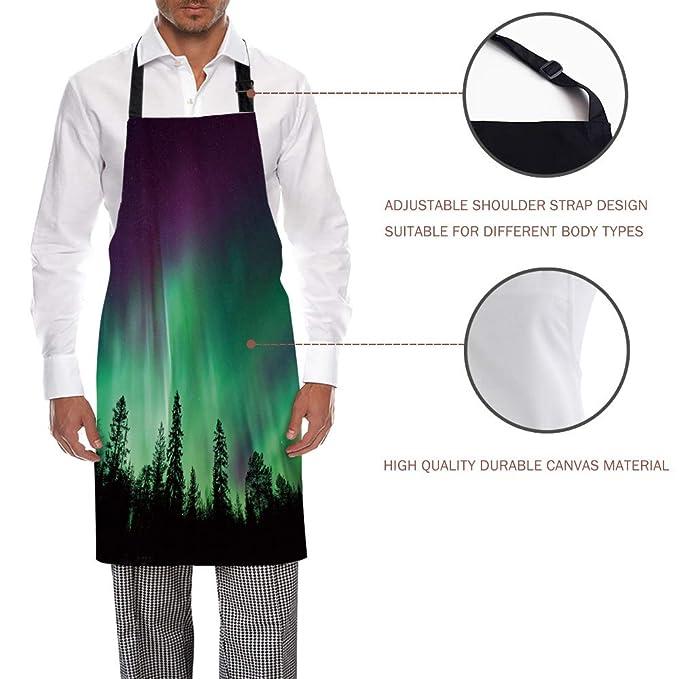 HomeCreator Delantal de Cocina Ajustable con diseño de Puente ...
