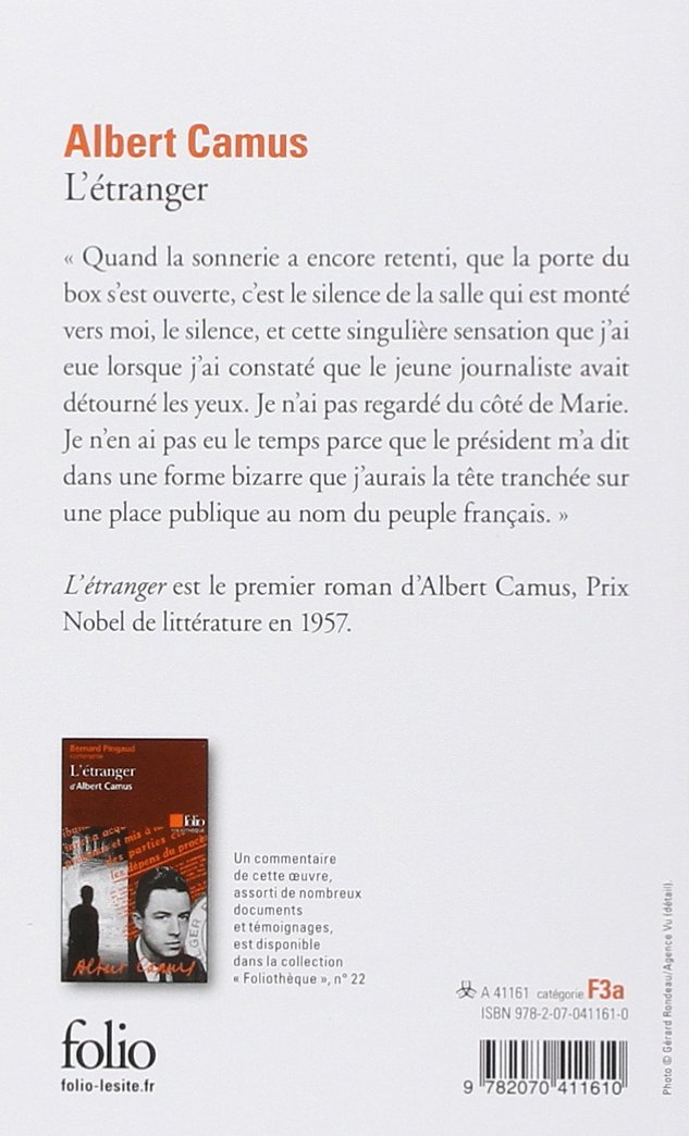 Amazon.fr - L\'Etranger - Albert Camus - Livres