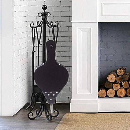 Ruier hui Grande cheminée en Cuir et Bois, Soufflet pour Grils, Soufflet de Flamme de Ventilateur, Pur Ventilateur à la Main avec Ceinture à