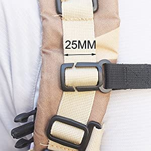 "ONE 3/4"" Nylon Webbing Sternum Strap Backpack Chest Harness for 1"" Webbing"