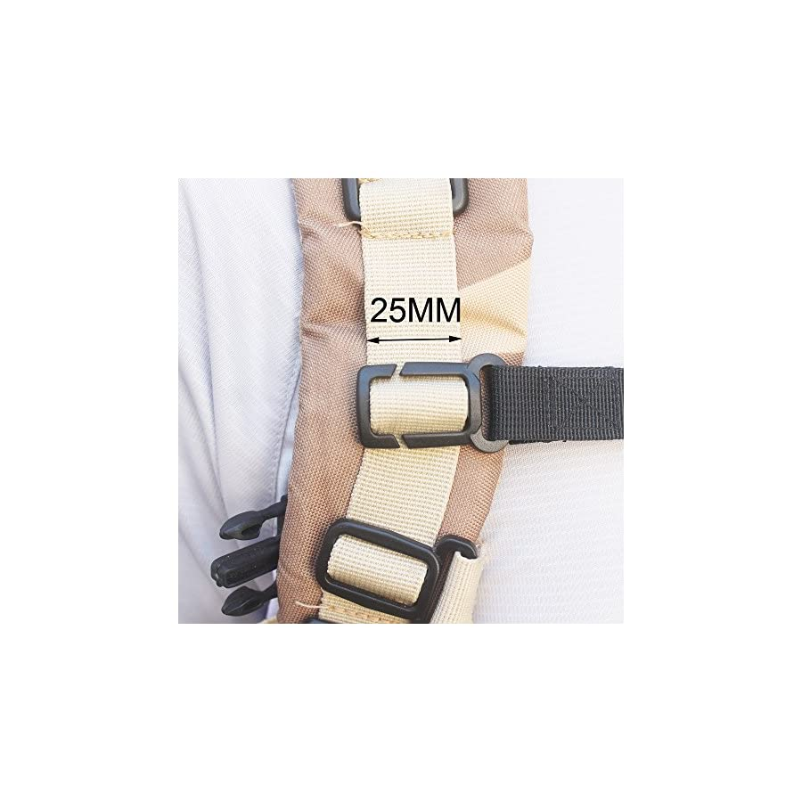 """YYST ONE Nylon Webbing Sternum Strap Backpack Chest Harness for 1"""" Webbing, NOT for 3/4 Inch Webbing"""