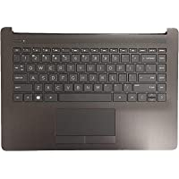 for HP 14-CK 14-cm Smoke Gray Upper Palmrest Case with Keyboard & Touchpad L23241-001