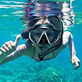 OMORC Adult Snorkel Set,Anti Leak Snorkel Gear for