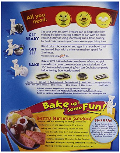 Pillsbury White Cake Mix Directions