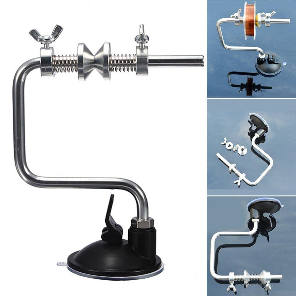 Ligne de pêche Reel Système Spooler Spool, Woopower Portable Enrouleur de ligne de pêche Bobine Organiser Spool Spooler Tackle Aluminium Outil
