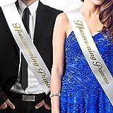 RibbonsNow Homecoming Prince and Homecoming Princess Sash Set (Prince & Princess) – Made in The USA