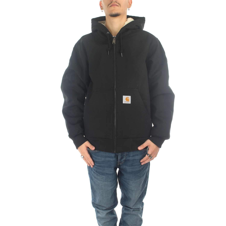 Carhartt active pile jacket giubbotto uomo nero io24930blk