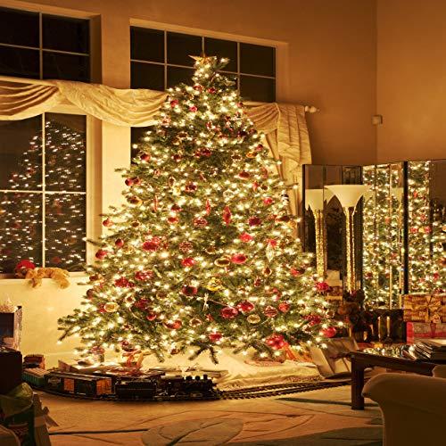 LYWYGG 10x10FT Christmas Backdrop Indoor Christmas Tree Backdrops