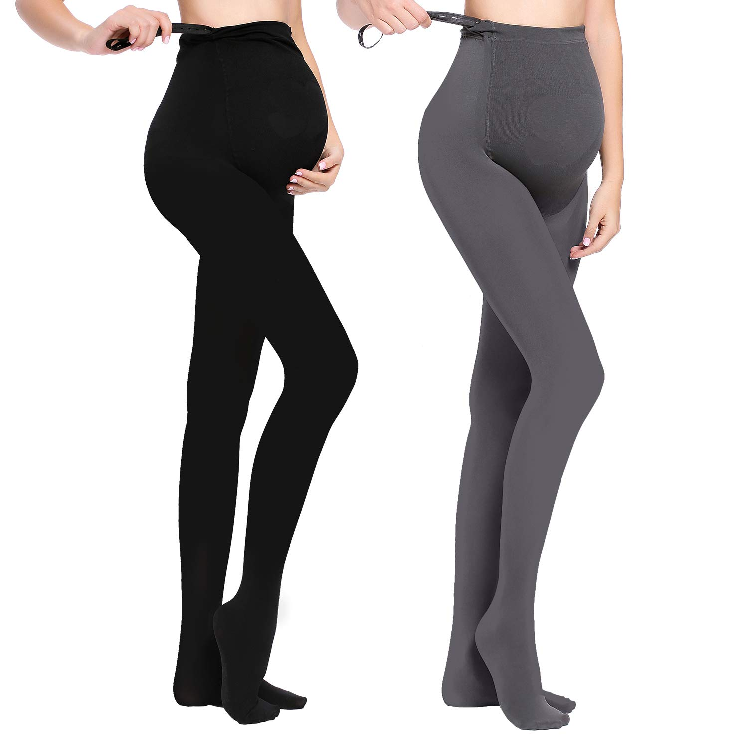 62988d530f8fe JOYNCLEON Maternity Pregnant Women Tights Adjustable Opaque Pantyhose  320DEN One Size Fits All