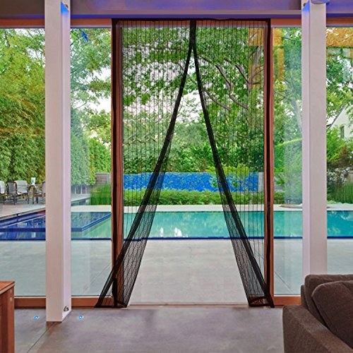 "AGC Mart Magnetic Screen Door, Heavy Duty Full Frame Velcro Mesh. Seals Top-To-Bottom Like Magic! Keep Bugs, Insects, Mosquitos Out. Best Net Curtain for Patio, Garage Use. For Doors Up to 35"" x 82"""