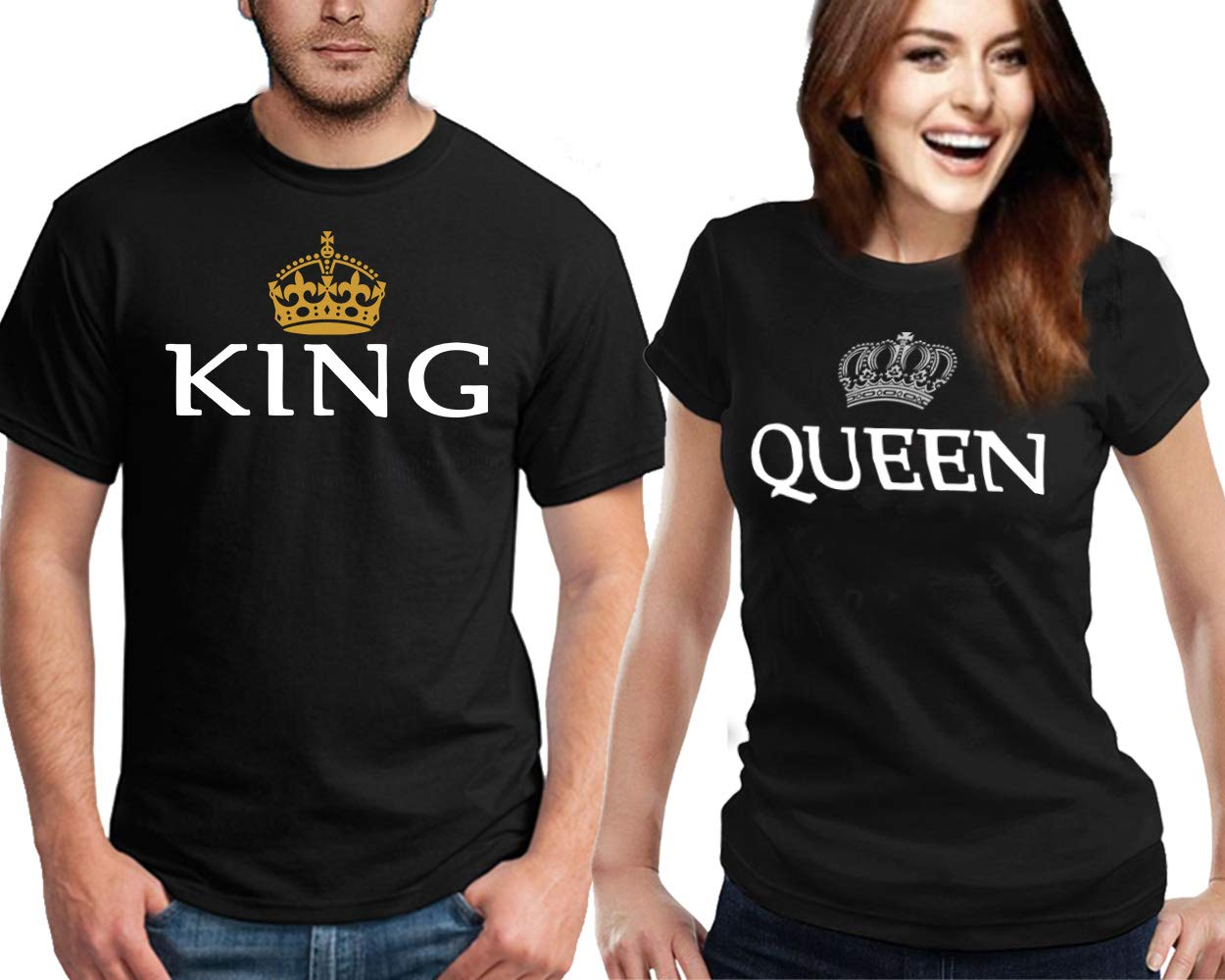Matching Couple Shirts King and Queen Tshirts | His and Hers T Shirts