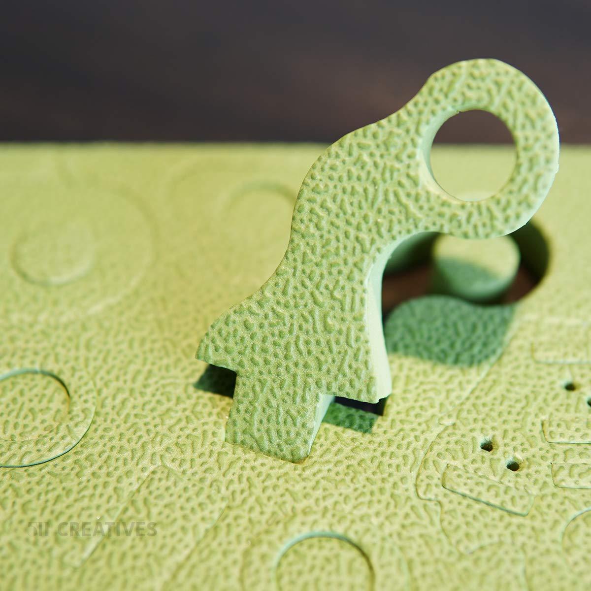 511 Creatives Original Educational Toys for Children 3D Interlocking Foam Puzzles Blocks Velociraptor and Stolen Egg STEM Toys